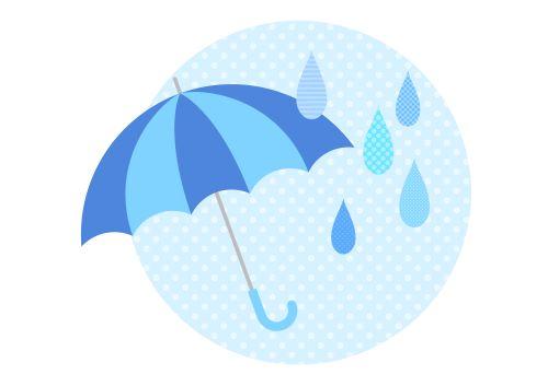 傘と雨のイラスト