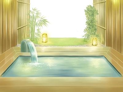 温泉のイラスト