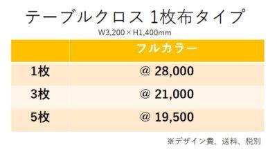 テーブルクロス価格表